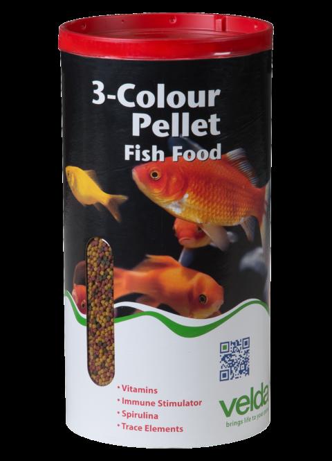 3 Colour Pellet Food Velda