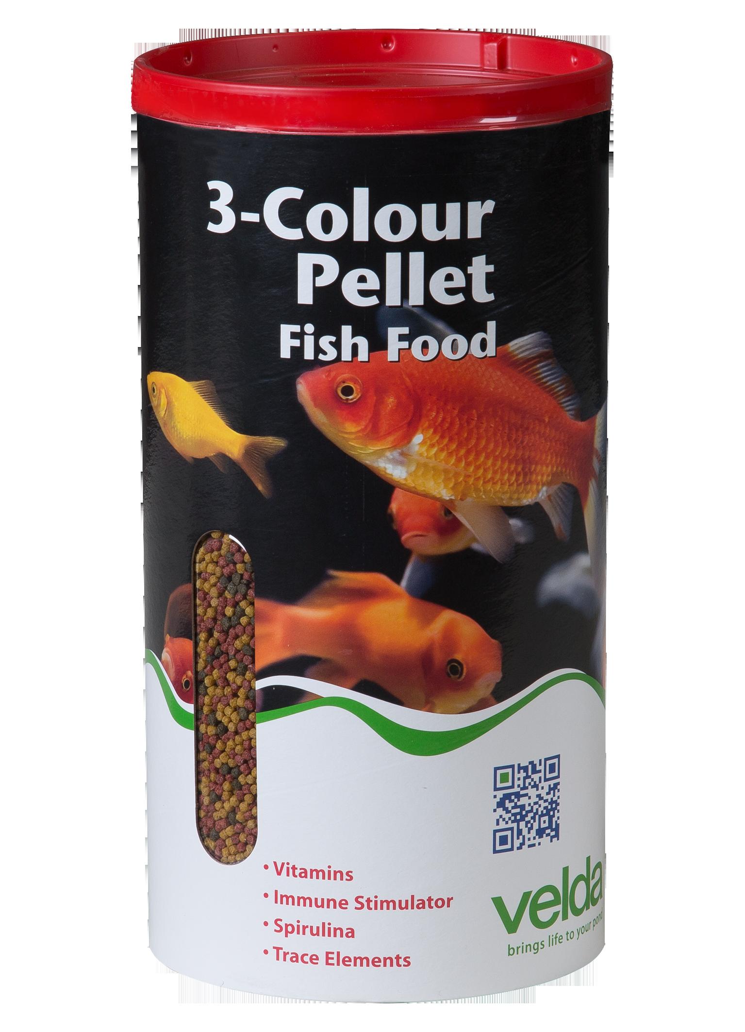 3 colour pellet food velda for Besondere teichfische