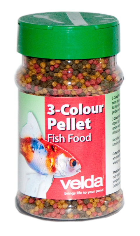 Vivelda 3 colour pellet food velda for Miniteich goldfische